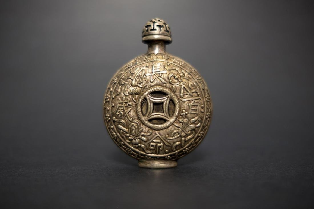 A Silver Snuff Bottle