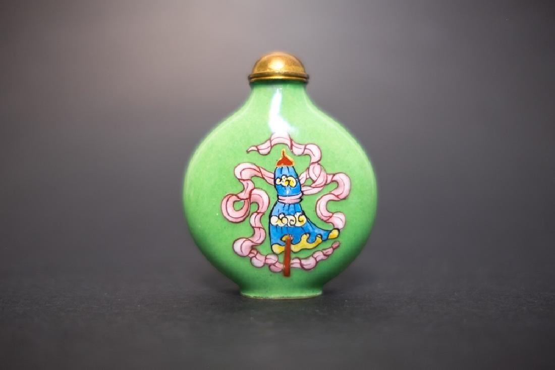 A Painted enamel Snuff Bottle