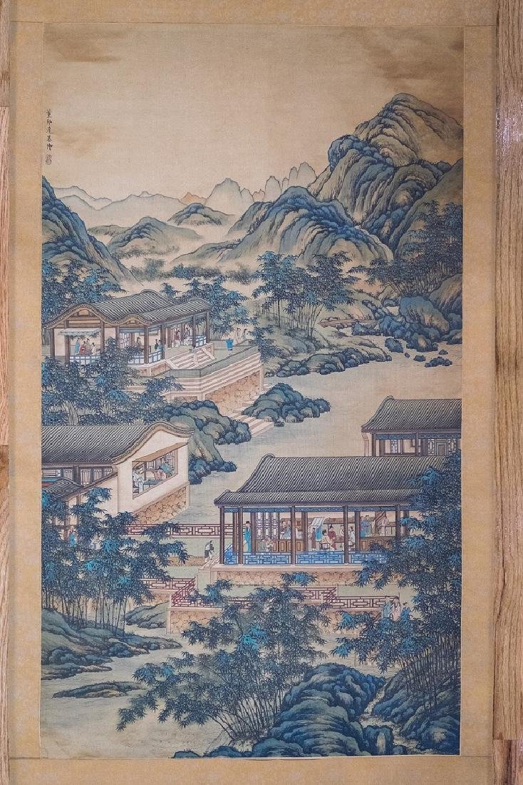 Qing Dynasty. Daguan Gardens ink and color on silk