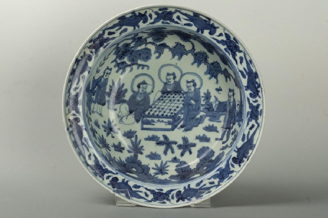 MING WANLI Period Blue & White old man large bowl