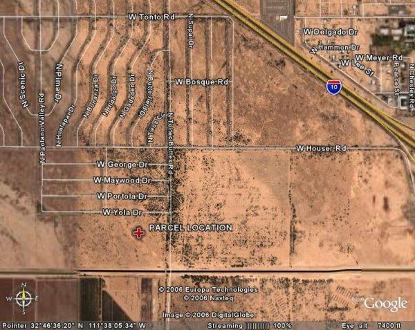 154: ARIZONA, PINAL, 6 LOTS, TOLTEC AZ VLLY, $649.41/MO