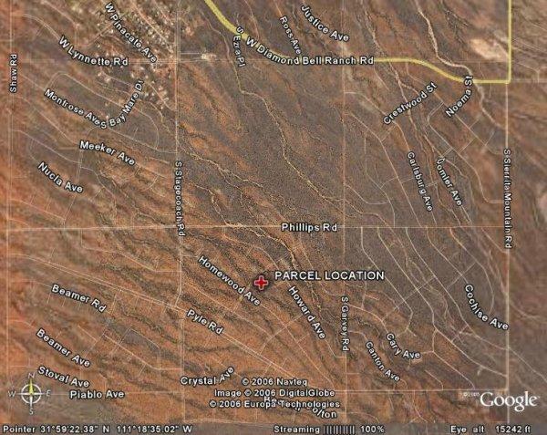 155: ARIZONA, PIMA, 1.31 AC TUCSON AREA, $187.48/MO
