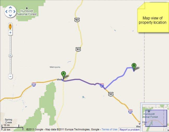 4916: Nevada Land, Montello Area, 10 AC, Terms