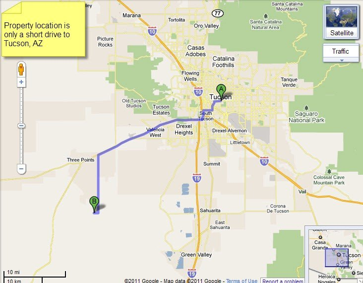 5001: Diamond Bell Ranches, 1.0 AC in Pima County - Ter
