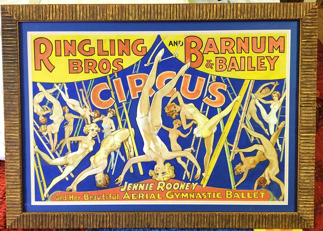 1935 Painting: Barnum Bailey Bros. Circus Jennie Rooney
