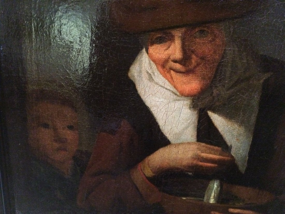 Woman Canning Pickles - Oil Painting  c1645