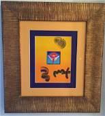 "Original Peter Max ""Angel"" Painting"