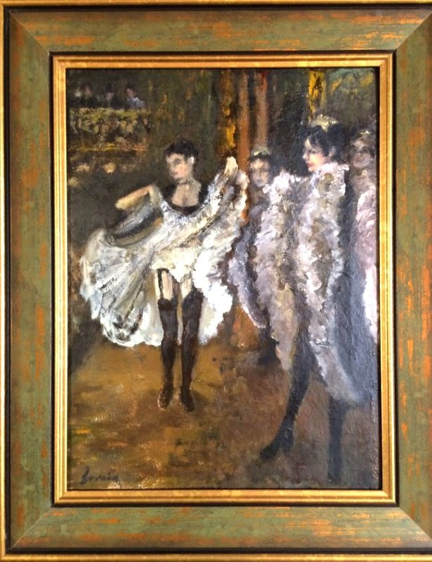 Can Can Dancers - Turn of Century Oil on Canvas