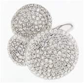 18k white gold diamond ring, 2.17CT