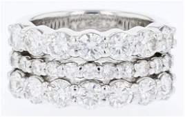 14k white gold diamond ring, RND 2.64CT