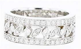 14k white gold diamond ring, RND 0.51CT