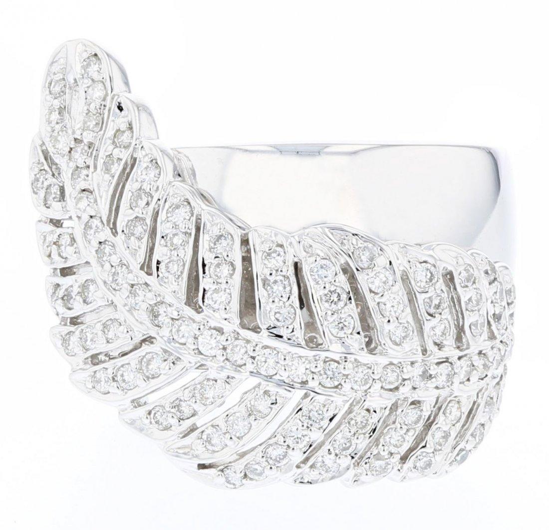 14k white gold diamond ring, DIA 1.47CT