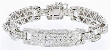 14k wg diamond bracelet, DIA 8.80CT