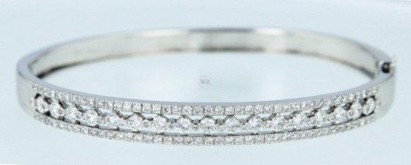 14k wg diamond bangle, RND 3.35CT