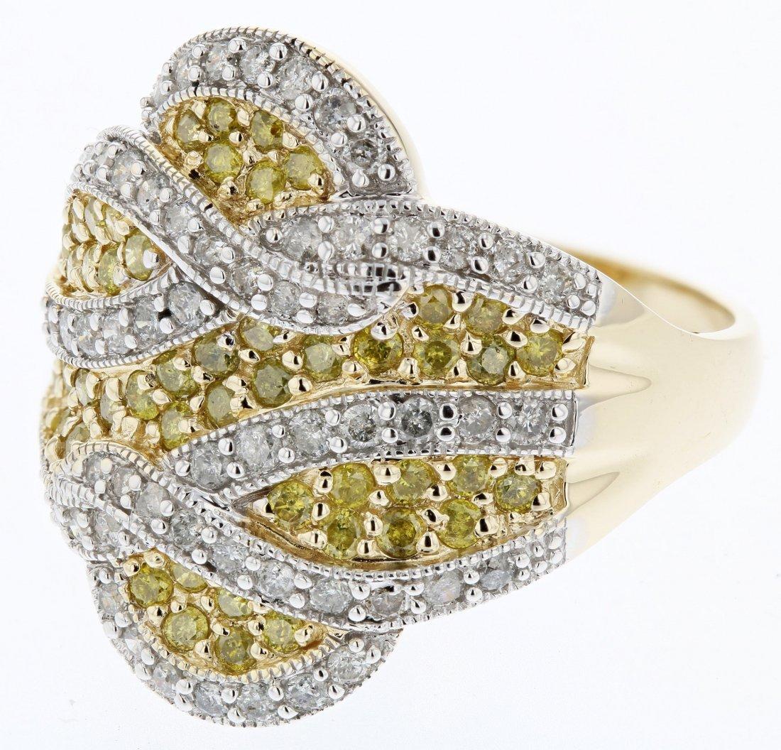 14k yg diamond ring, 0.45CT, yel dia 0.55CT