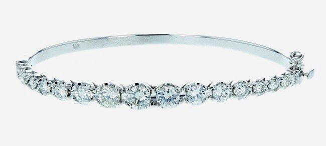 14k wg diamond bangle, RND 2.42CT