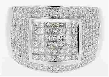 18k wg diamond ring, RND 0.77CT, PRN 0.78CT