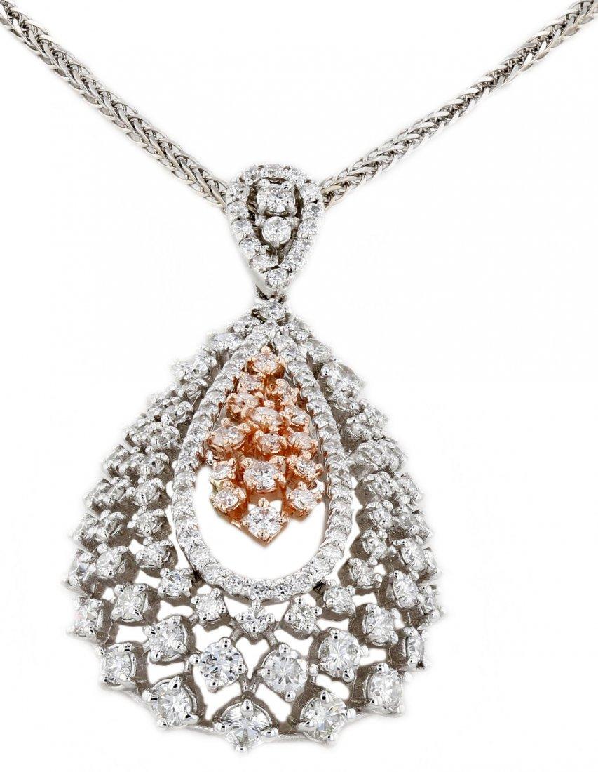 14k Gold, 2.76CT  Diamond Pendant