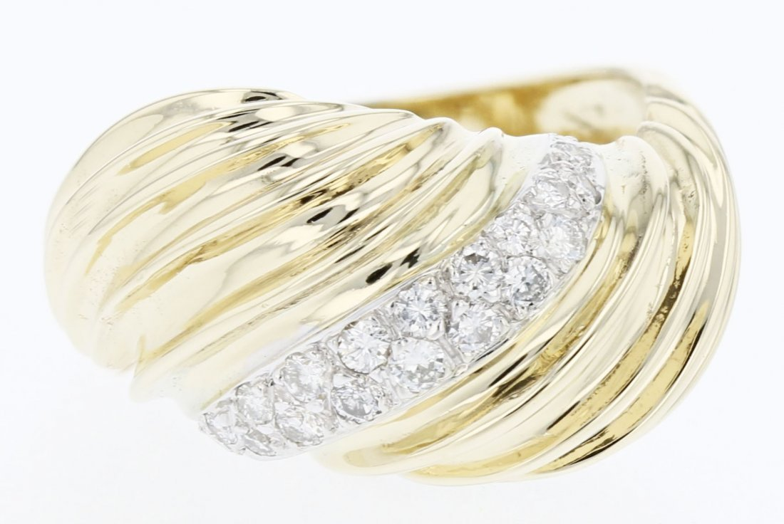 14k Gold, 0.38CT Diamond Ring