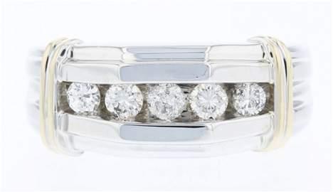 14k 2T Gold, 0.46CT Diamond Ring