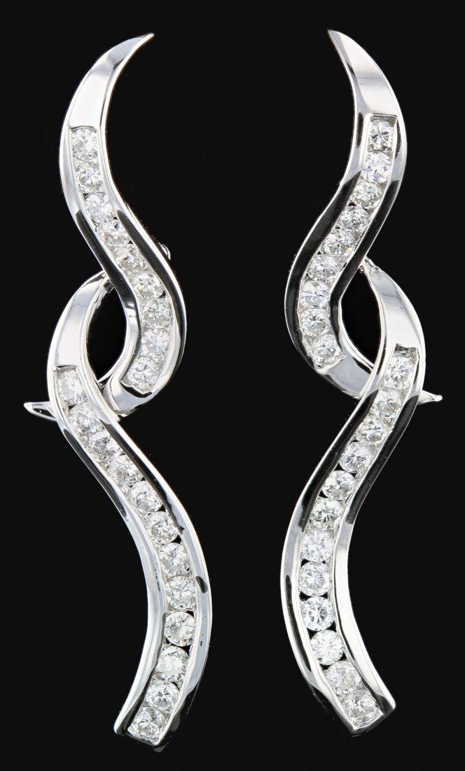 14k Gold, 1.12CT  Diamond Earrings
