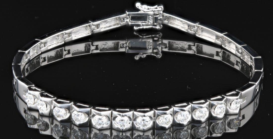 18k White Gold, 1.53CT Diamond Bracelet