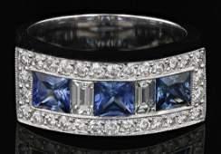 18k white gold diamond ring RND 058CT BGT039CT