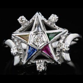 14k White Gold 0.58ct Diamond Ring