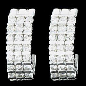 14k White Gold 1.95ct Diamond Earrings