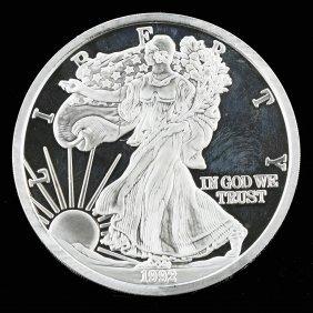 United State Of America One Pound Fine Silver 1992