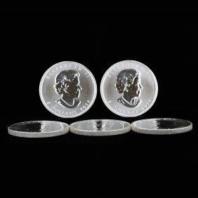 Maple Leaf Elizabeth Canadian .999 Fine Silver Coins