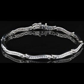 14k Gold, 0.95ct Diamond Bracelet