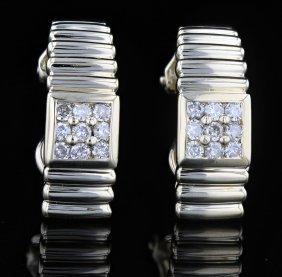 14k Gold, 0.38ct Diamond Earrings