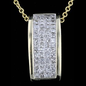 14k Yellow Gold 0.72ct Diamond Pendant