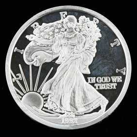 United State Of America One Pound Fine Silver 1992