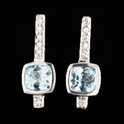 14k White Gold 0.09ct Diamond Earrings