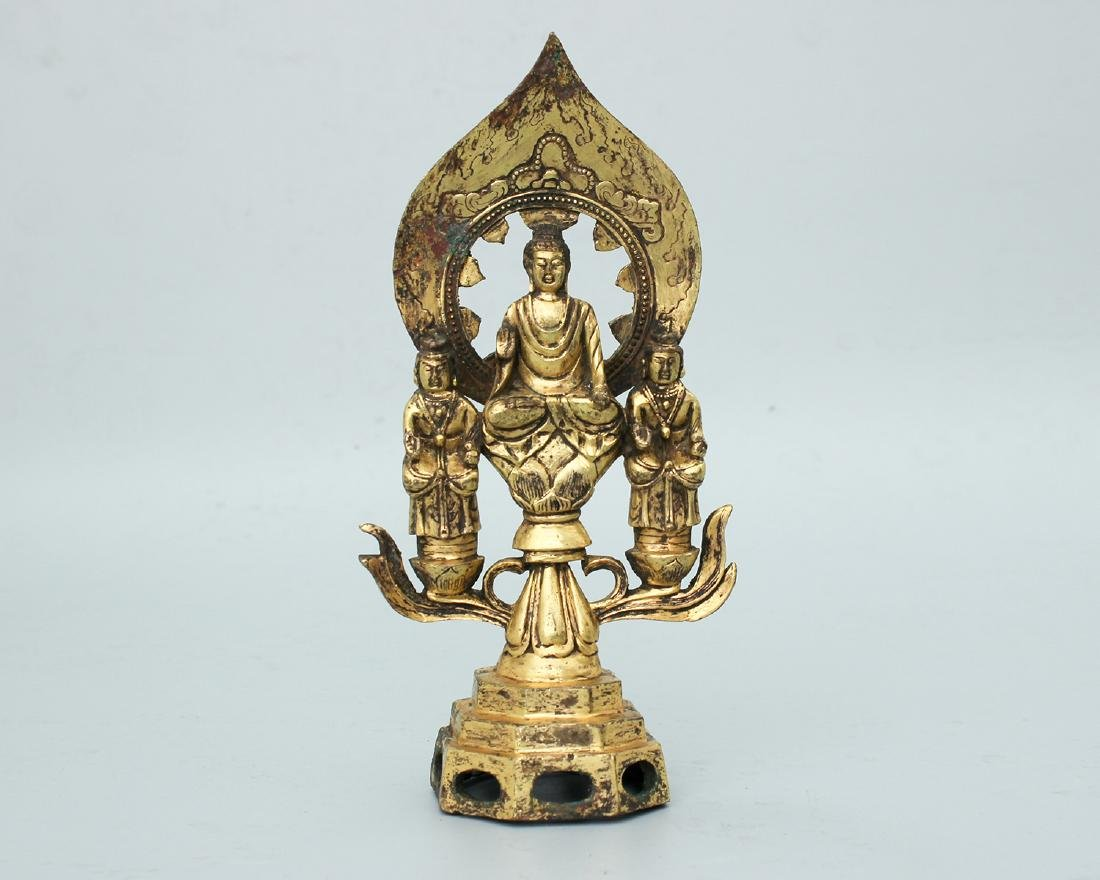 GILT-BRONZE FIGURE OF BUDDHAS