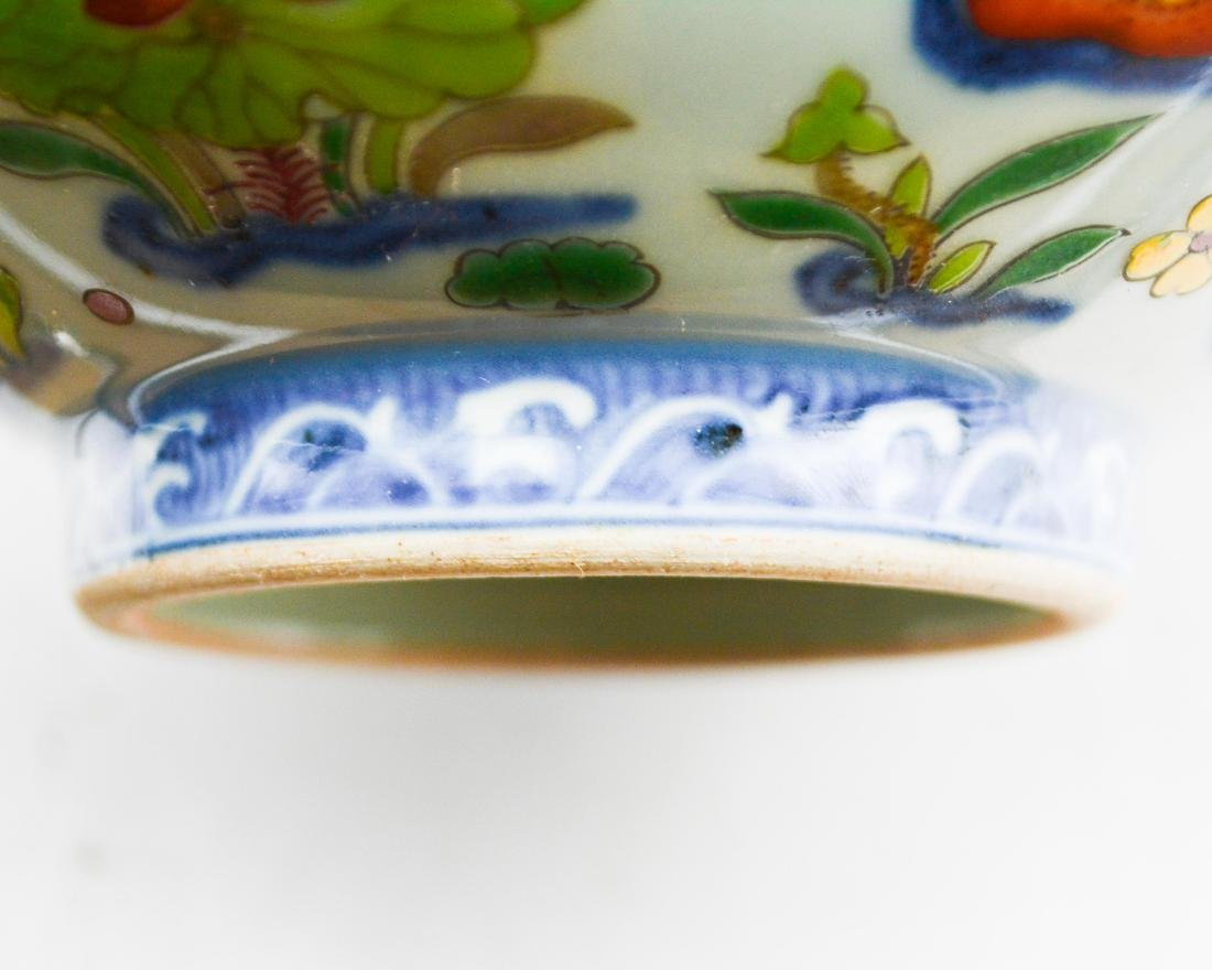 BLUE AND WHITE WUCAI BOWL - 8