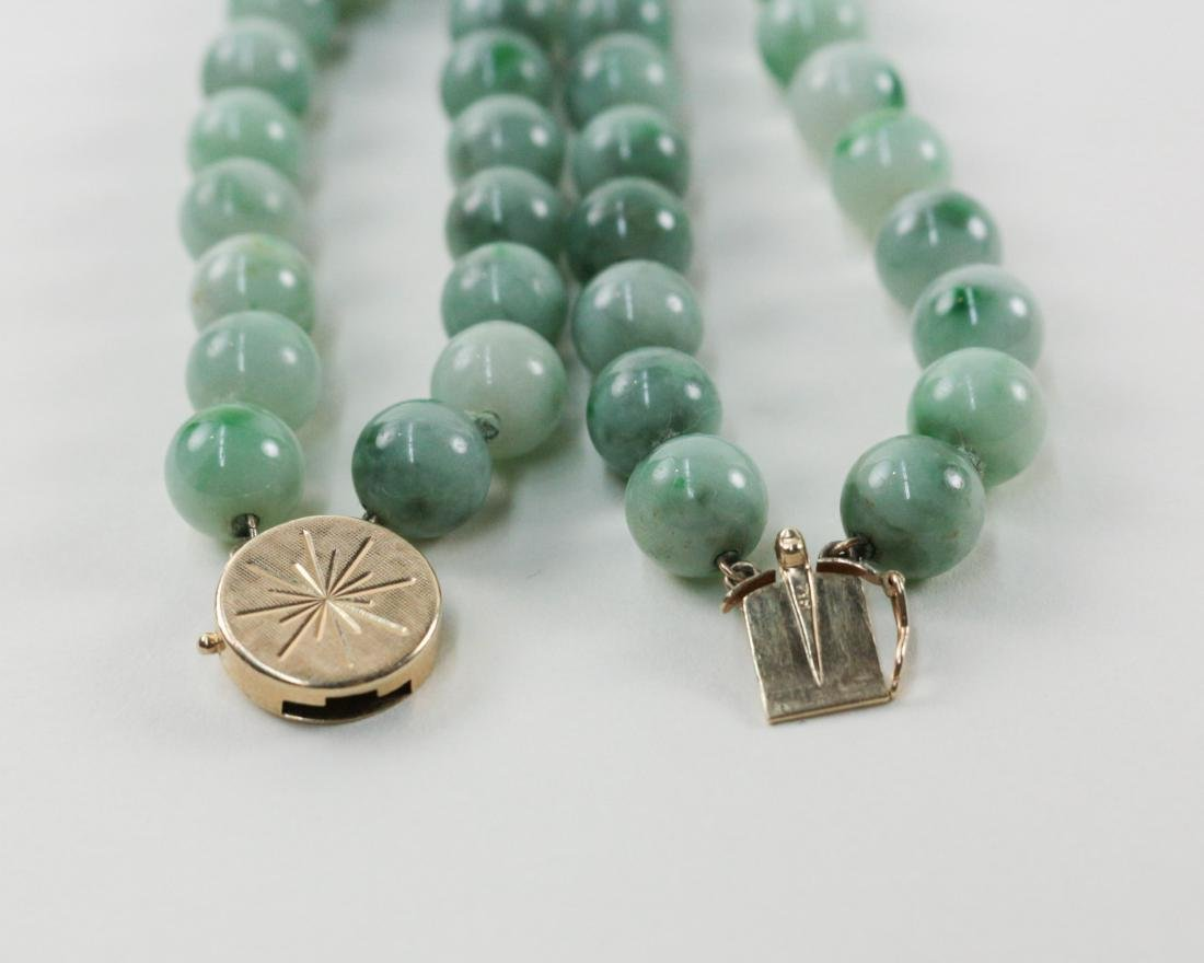 TWO PIECES OF TOURMALINE/JADEITE BEADS NECKLACES - 8