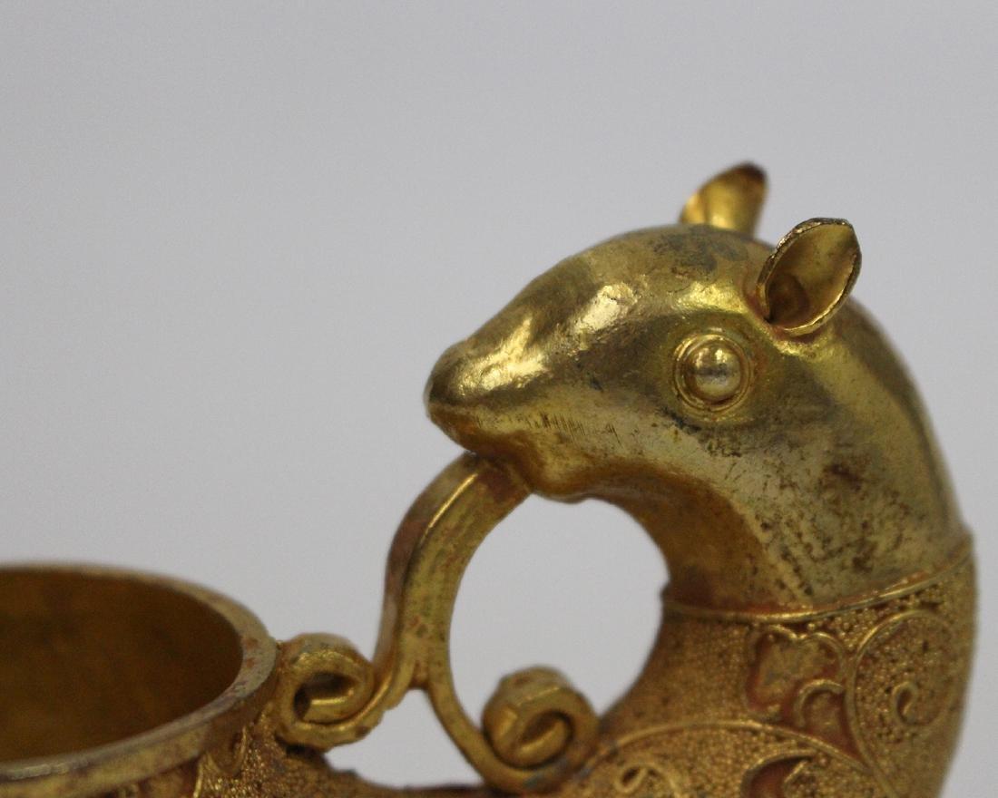 GILT BRONZE AUSPICIOUS BEAST CUP - 4