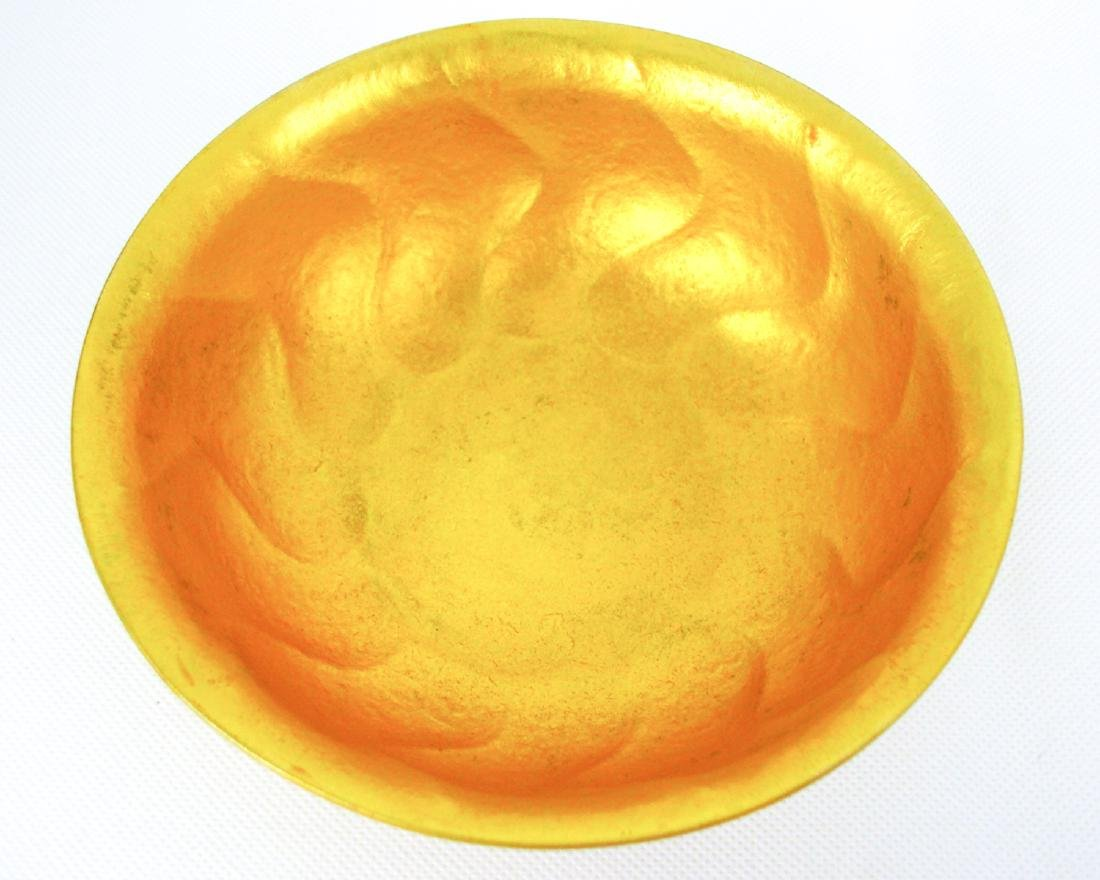 DATANG ZHENGUAN MARK BRONZE-GILT BOWL - 7