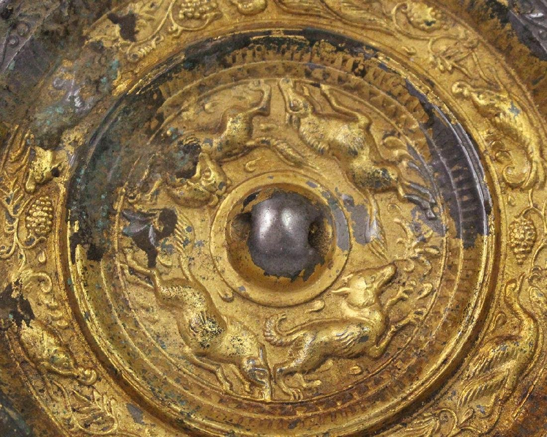 GILT BRONZE MIRROR - 2