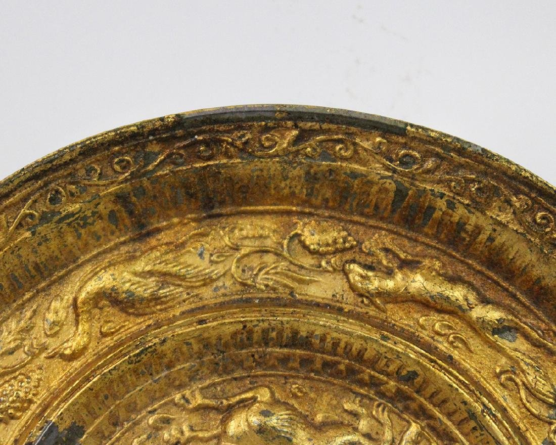GILT BRONZE MIRROR - 4