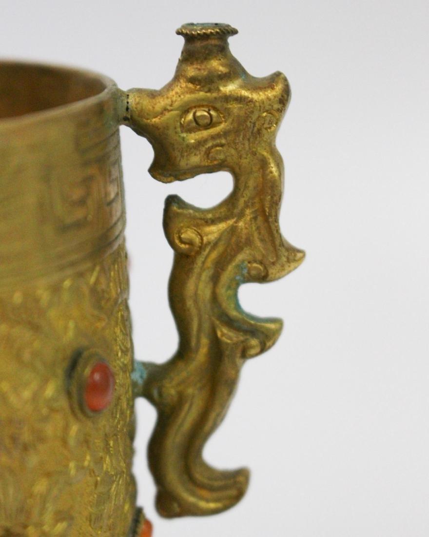GILT BRONZE TRIPOD CUP - 8