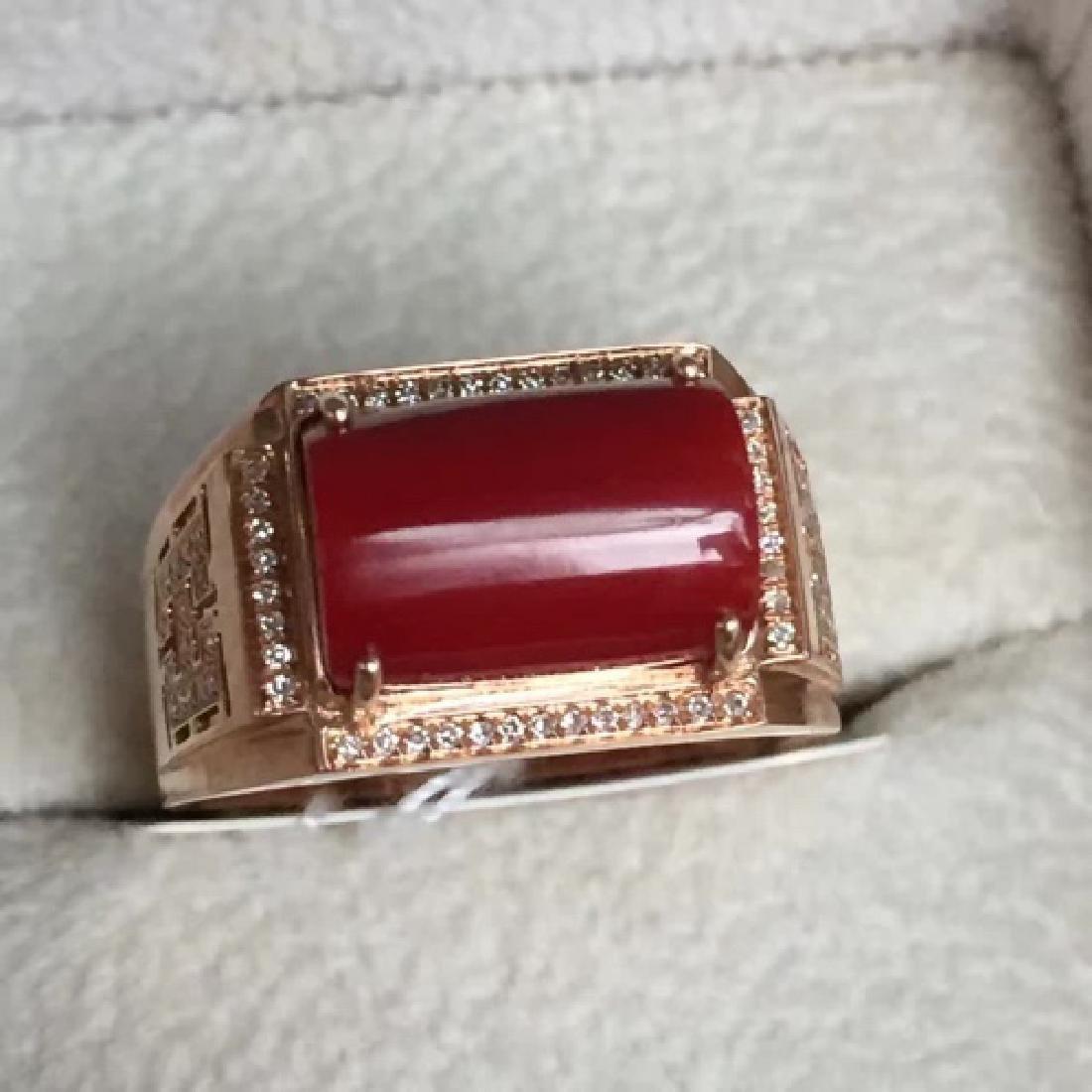 18K AKA MALE RING WITH DIAMOND