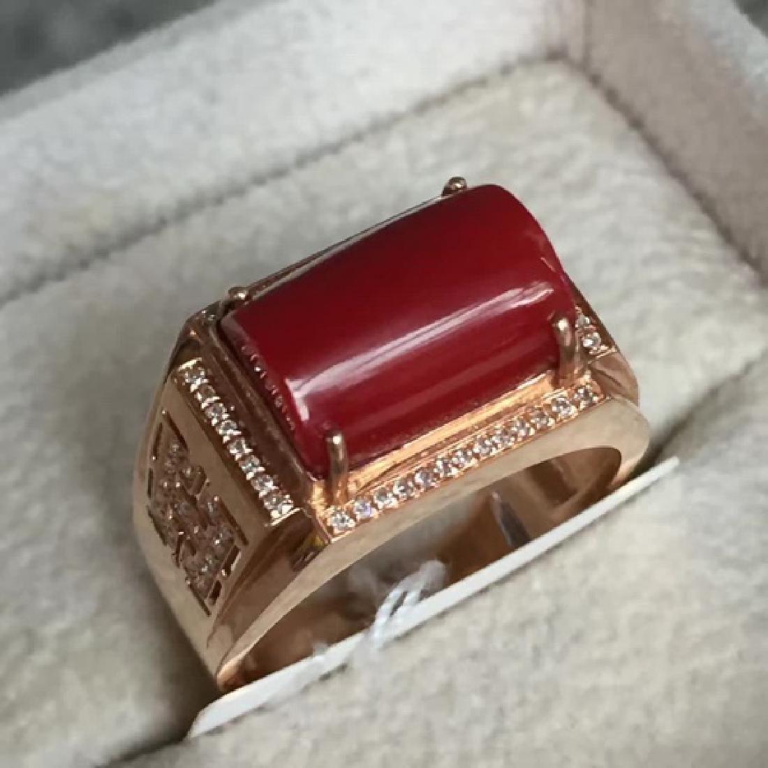 18K AKA MALE RING WITH DIAMOND - 2