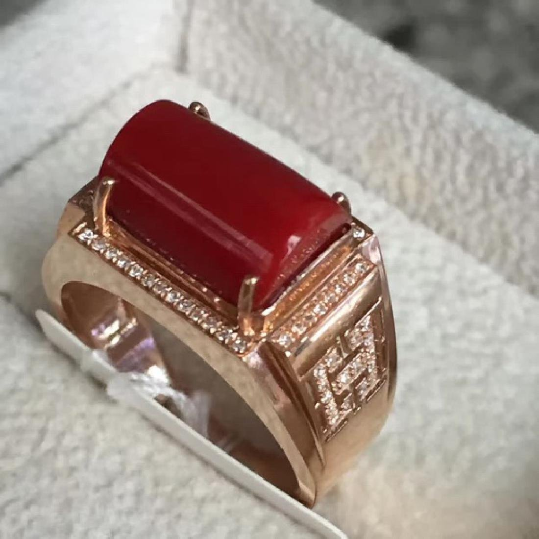 18K AKA MALE RING WITH DIAMOND - 3