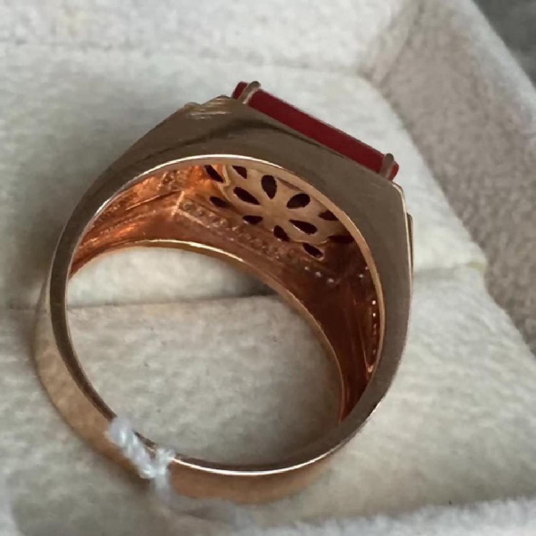18K AKA MALE RING WITH DIAMOND - 5