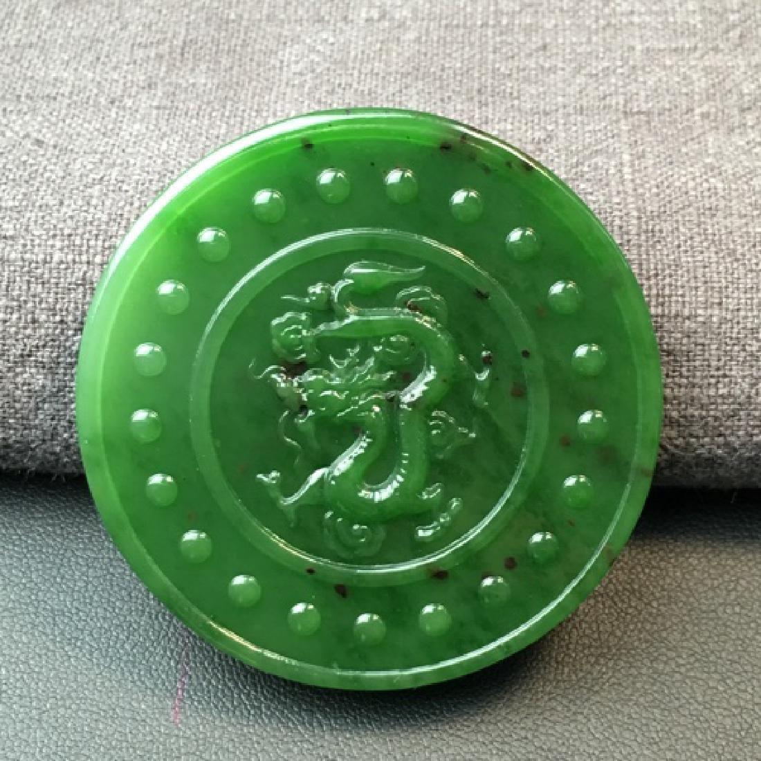 DRAGON SHAPED HETIAN GREEN JADE