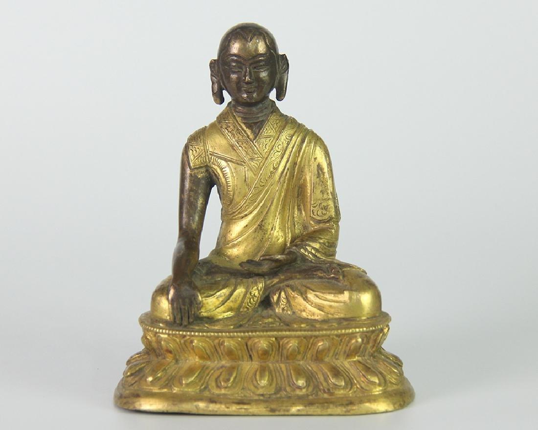 GILT BRONZE LUOHAN BUDDHA